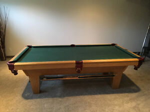 Pool table: 4x8,  great condition.  Includes transport/set-up