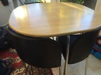Dining table and 4 chairs - sold