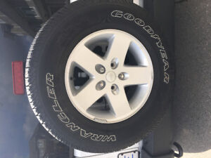 5 Goodyear Wrangler Tires and Wheels