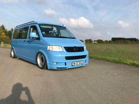 Vw t5 campervan with air ride with pop top t4 splitscreen