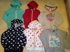 Girls hoodie/jumper bundle age 4-6 years