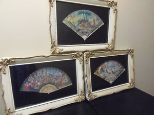 Four Fans For the Lady! Lovely Shabby Chic Japanese Fan Prints!