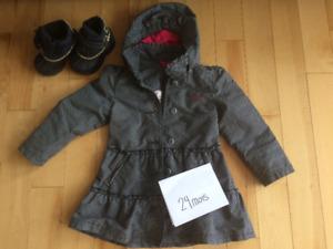 Manteau Mexx et bottes printemps/automne