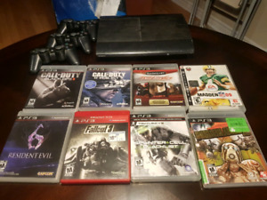 PlayStation 3 (With games and headset)