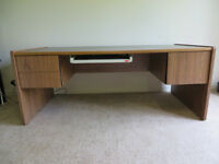 Large Solid Desk With Drawers
