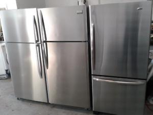 """Réfrigérateurs aux choix 30"""" stainles steel"""