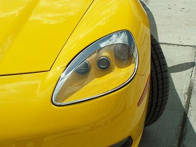 Corvette Headlight Eyebrow Kit 2Pc Chrome ABS 2005 2013 C6 all