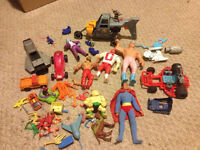 Vintage 80s action figures/toys ghostbusters superman