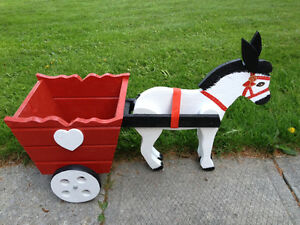 Donkey and Cart Planter brand new