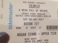 2 tickets to sold out Coldplay concert 08/07/16 £350