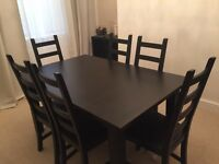 IKEA Stornäs Extending Dining Table & 6 Chairs