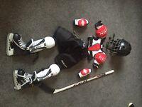Kids ice hockey kit