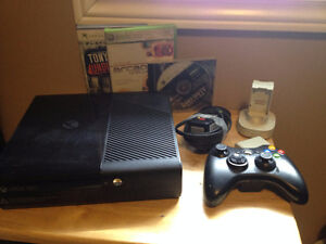 XBOX 360 E with games and accessories