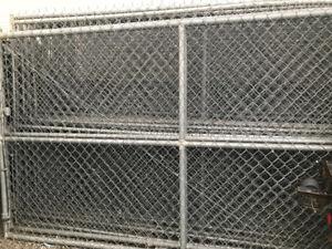 18 chainlink fence panels 12' L 6' T + 2 gates 15'L 6'T = 246'
