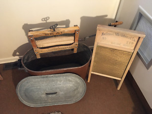 Antique Dowswell, Lees & Co. Wringer Washer,  Washboard & tub