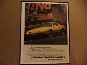 OLD FIREBIRD CLASSIC CAR FRAMED AD Windsor Region Ontario image 2