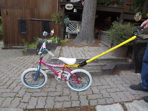 Girl's bike and easy-trainer