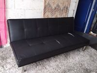 Black Leather 3 Seater Sofa Sofabed
