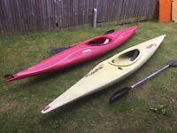 Kayaks for sale x3 , yellow and two red