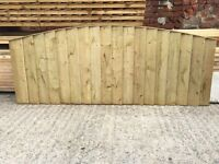 🔨🌟The Best Quality Pressure Treated Arch Top Vertical Board Wooden Fence Panels