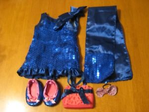 18' doll OUR GENERATION BLUE SEQUENCE DRESS OUTFIT