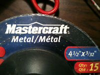mastercraft  grinding disks  15  size  41/2 x 3/32 new