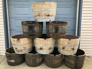 LOOK >> 220 X WHISKEY OAK PLANTERS & WINE OAK PLANTERS