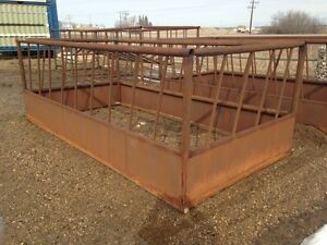 30' all steel round bale feeder
