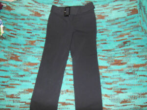 2 pairs of size 8 work dress pants black brown $10.00