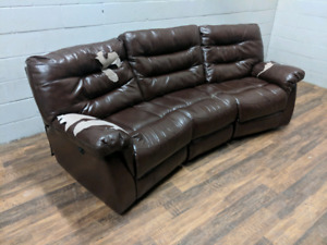 Peeling faux leather electric recliner sofa. FREE DELIVERY