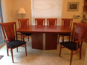 Imported Italian Dining Room Table & 6 Chairs