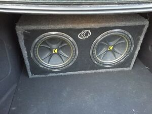 "12"" kicker dual sub with amp $295 obo swap/trade are welcome"