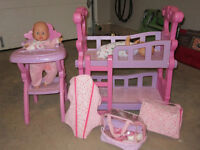 Two babies, High Chair/Bunk Bed and all the Accessories!