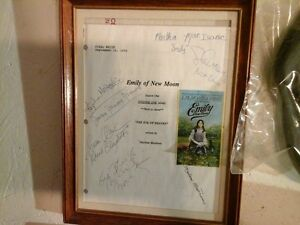 Emily of New Moon Autographed Script