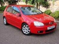 EXCELLENT DIESEL! 55 REG VOLKSWAGEN GOLF 2.0 TDI GT 140 5dr, 1 YEAR MOT, WARRANTY