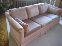 Couch - Morette's 3 seater - Dusty Rose Fabric
