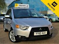 2010 MITSUBISHI COLT 1.3 CZ2 95 BHP+AUTOMATIC+66K MILES+3 F/KEEPERS+AUX+CD-PLAYR
