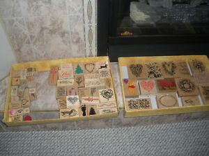 Rubber Stamps; Excellent quality Wood Backed; smoke free home
