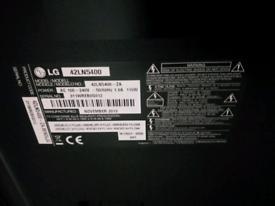 """LG TV 42"""" television SPARES REPAIRS"""