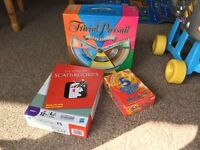 Board games - Trivial Pursuit (Deluxe Edition), Scattergories & 5 Second Rule