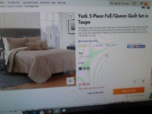 QUEEN QUILT SET (TAUPE)