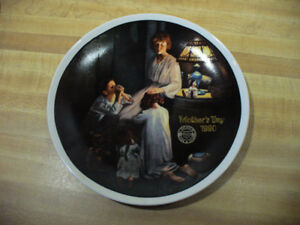 1990 NORMAN ROCKWELL LIMITED EDITION COLLECTOR PLATE