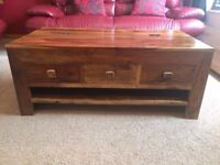 Sheesham solid wood furniture (5 pieces).