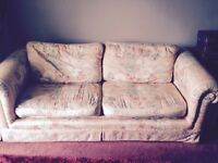 3 seater sofa bed and arm chair