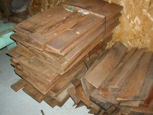VINTAGE ROUGH SPLIT BC CEDAR SHINGLES (SHAKES)