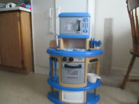 A Blue Kitchennette for Age 1 - 3 Years
