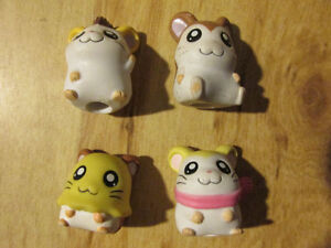 HAMTARO Hamster Anime Pencil Pen Topper Rubber Toy Vintage