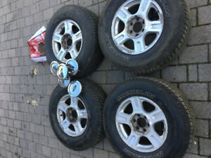 "17"" Ford F150 rims on 90% Michelin LTX MS2 265 70 17 w/TPMS"