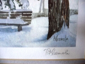 """Hand Signed and Titled Lithograph by Terry Kleemola """"The Chapel"""" Stratford Kitchener Area image 5"""