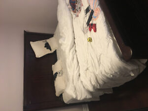 King set bed with mattress for sale